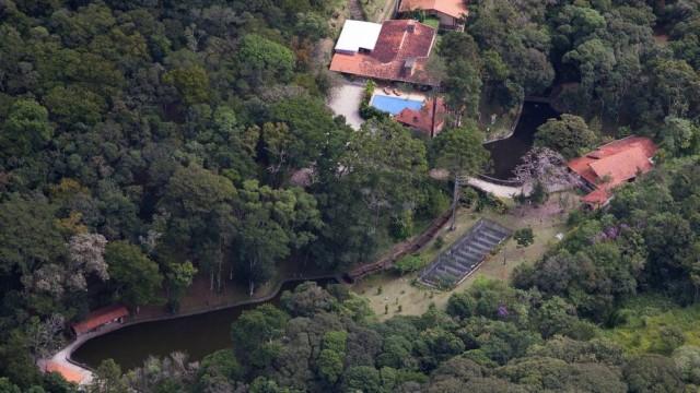 Imagem área do Sitio Santa Bárbara apontado por vizinhos como sendo do ex-presidente Luiz Inácio Lula da Silva