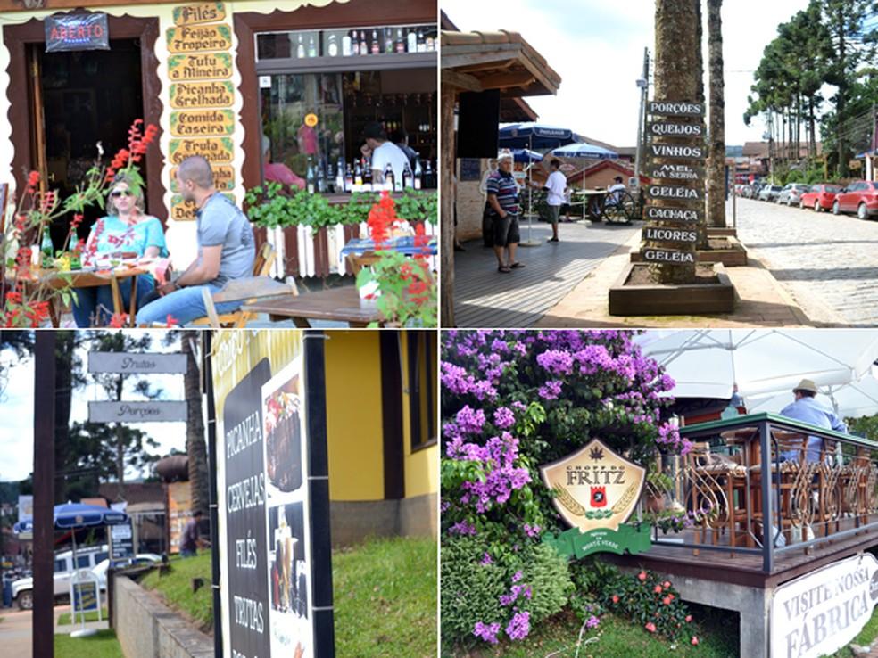 Gastronomia e arquitetura de países europeus atrai turistas para distrito (Foto: Daniela Ayres/ G1)