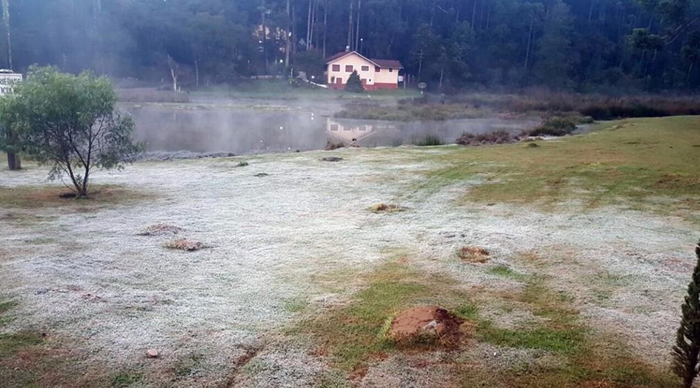 Distrito de Camanducaia, Monte Verde carrega fama de registrar algumas das menores temperaturas da região (Foto: Nelson Pacheco)