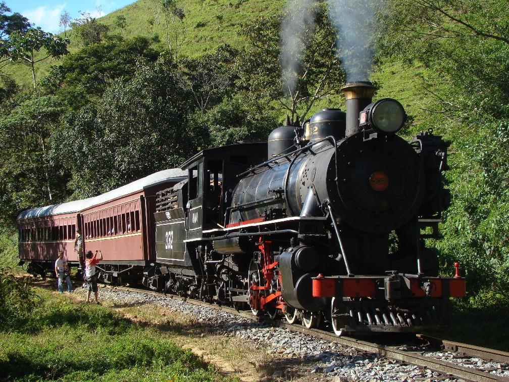 Passeio de trem é uma das principais atrações de Passa Quatro (Foto: Associação Brasileira de Preservação Ferroviária/Divulgação)