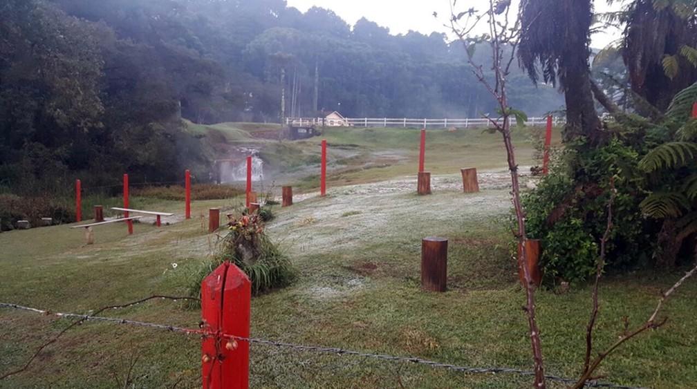 Monte Verde registra a menor temperatura no ano, diz Inmet (Foto: Nélson Pacheco)